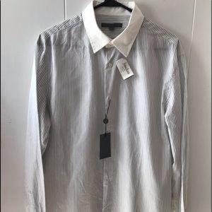 John Varvatos Men's shirt,NWT, fine cotton, L